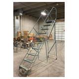 "Gillis 10 Step Rolling Shop Stair Case 103""x32""x134""T"
