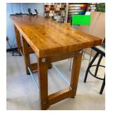 """90""""x27""""x42""""T Custom Bar Table With Bottle Openers, Chairs And Contents Are Not Included"""