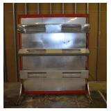 """Prime Heat Halogen Systems Drying Unit, On Wheels 70""""x85""""T"""