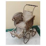 Victorian F.A. Whitney Wicker Carriage