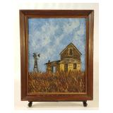 Impressionist Style Farmhouse Painting