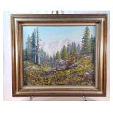 1990 Mountain Scene Painting