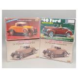 (4) Convertible Scale Models Lot #1