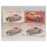 (4) Convertible Scale Models Lot #2