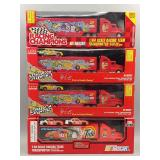 (4) NASCAR 1:64 Scale Racing Team Transporters