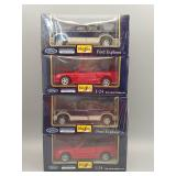 (4) Maisto Ford Die-Cast 1:24 Scale #1