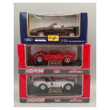 (3) Ford Die-Cast 1:24 Scale Cars