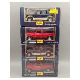 (4) Maisto Ford Die-Cast 1:24 Scale #2