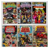 (6) Vintage Marvel Super-Heros Comics