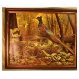 """August Holland pheasant print 22"""" x 18 1/2"""""""