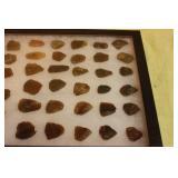 Over 50 piecies of flint from broken arrowheads