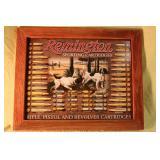 Remington sporting cartridges tin framed sign