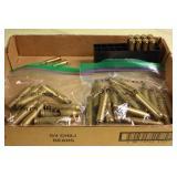 Misc. brass 16-300 , 12-7 mm, 8 25-06, 2 222