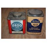 Hivel military powder can & Hercules 2400 powder