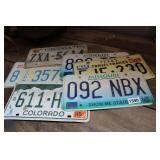 LOT OF SIX STATE LICENSE PLATES