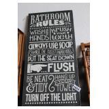 NEW BATHROOM RULES SIGN