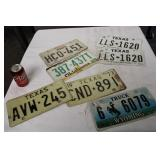 LOT OF SEVEN STATE LICENSE PLATES