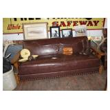 RANCH OAK LEATHER COUCH