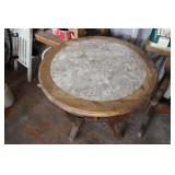 STURDY MARBLE TOP END TABLE