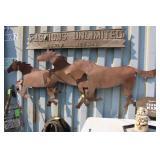 LARGE METAL HORSE YARD ART