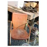 SQUARE BACK METAL PATIO CHAIR