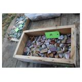BOX OF COLORFUL STONE