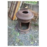 PARTS AND PIECES ANTIQUE POT BELLY STOVE