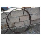 LOT OF TWO WAGON WHELL RIMS