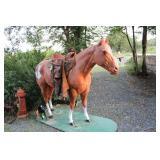FIBERGLASS LIFE SIZE HORSE