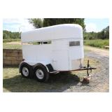 TWO HORSE STOCK TRAILER