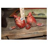 SMALL WOOD CARVED BIRDS DECOR