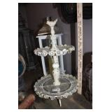 BEAUTIFUL ORNATE TIERED METAL AND GLASS SERVER