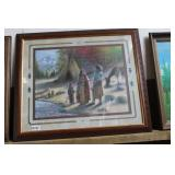 BEAUTIFULLY FRAMED INDIAN PRINT