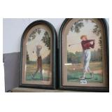 HIS AND HERS GOLF WALL HANGINGS