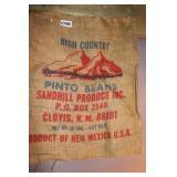 """VTG. """"HIGH COUNTRY"""" PINTO BEAN SACK"""