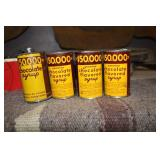 LOT OF VTG CHOCOLATE FLAV SYRUP CANS