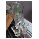 SHOT GLASSES AND BOOT CUP