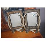 LOT OF TWO DEER ANTLER 8X10 PICTURE FRAMES