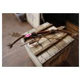 REPROD SHOSHONE MADE BOW AND ARROW WALL HANGING