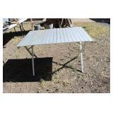 ALUMINIUM CAMP TABLE (FOLDS DOWN)