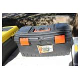 BLACK AND DECKER TOOL BOX AND CONTENTS