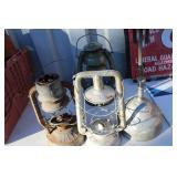 LOT OF FOUR VTG./ANTQ OIL LAMPS