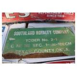 SOUTHLAND ROYALTY COMPANY OIL LEASE SIGN