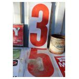 LOT OF VTG. GAS STATION NUMBERS