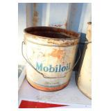 """VTG. """"MOBLOIL"""" 3 GAL OIL CAN"""
