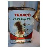"VTG. ""TEXACO"" CAPELLA OIL GAL CAN"