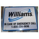 """WILLIAMS"" METAL SIGN"