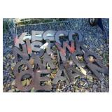 LARGE LOT OF METAL ALLOY LETTERS