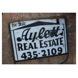 METAL SIGN AND POST REAL ESTATE SIGN