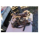 LOT OF THREE LEATHER SHOW HALTERS